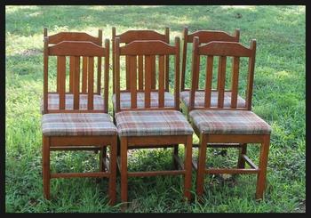 Функциональная скамья для участка из старых стульев