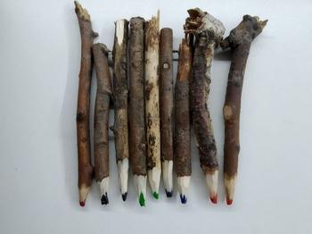 Изготовление карандаша из веток