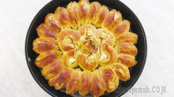 Отрывной яблочный пирог. Легко просто и красиво!