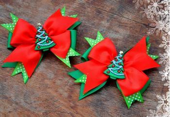 Рождественские банты из лент
