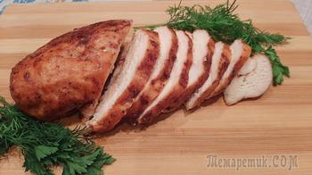 Куриное филе, запеченное в двух соусах в духовке