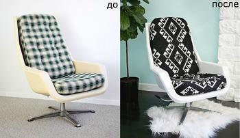 Как обновить подушки для кресла: мастер-класс