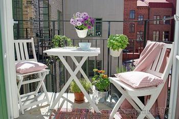 Как превратить маленький балкон в райское местечко: 30 очаровательных примеров