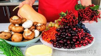 Заморозка (заготовка) продуктов осенью
