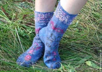 Создаем уютные войлочные носочки