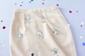 Как расшить юбку пайетками