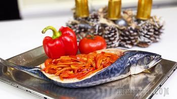 Запеченная cкумбрия в духовке с овощами за 20 минут - Недорого и полезно