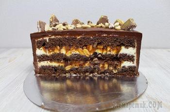 Шоколадно-ореховый торт «Сникерс»