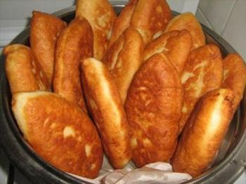Пирожки жареные творожные