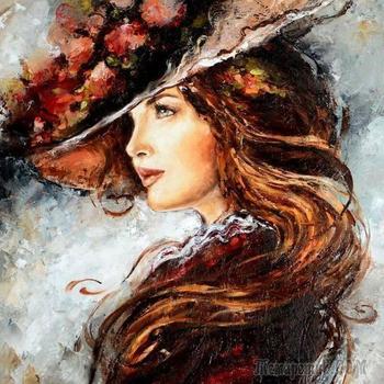 Эльжбета Брожек - прекрасные дамы, пейзажи и цветы