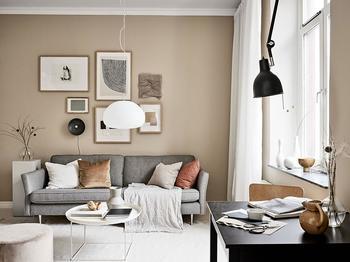 Маленькая квартира в песочных оттенках в скандинавском стиле (31 кв. м)
