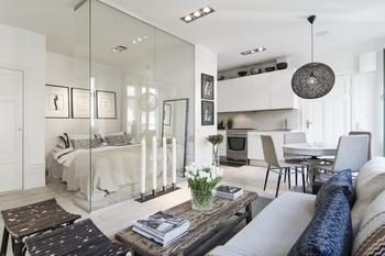 Скандинавский дизайн: небольшая, но стильная квартира в самом центре Стокгольма
