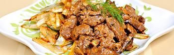 Мясо по строгановски ( рецепт из бабушкиной книги )