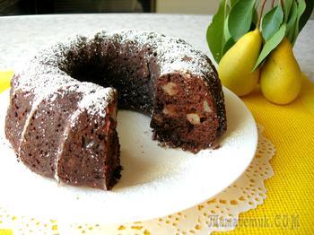 Шоколадный кекс с грушами мой любимый рецепт