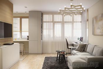 Однокомнатная квартира в современном стиле 40м². Киев