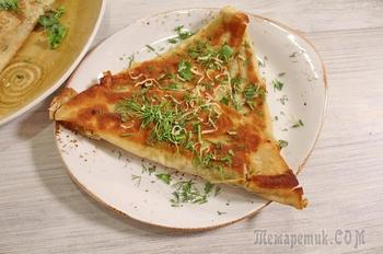 Ёка – ленивое хачапури за 5 минут. Вкусный завтрак из лаваша с сыром.