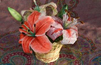 Лилии из холодного фарфора