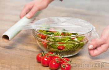 Как оригинально использовать обычную пищевую пленку