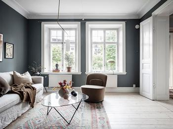 Великолепный цвет для небольшой квартиры (46 кв. м)