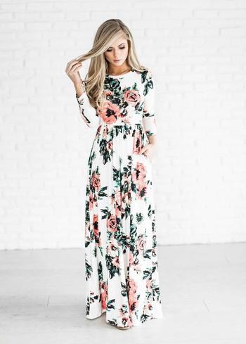 Самые стильные длинные платья для летних прогулок, выходов и отпуска