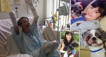 Игра с печальным финалом: женщина заболела сепсисом и перенесла три ампутации после укуса любимым псом