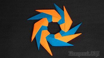 Как сделать сюрикен из бумаги. Оригами сюрикен из бумаги