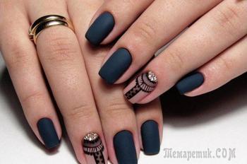 Матовый маникюр — модный, красивый и современный формат украшения ногтей