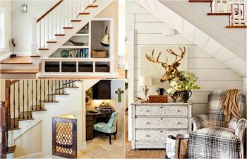 17 интересных идей обустройства пространства под лестницей