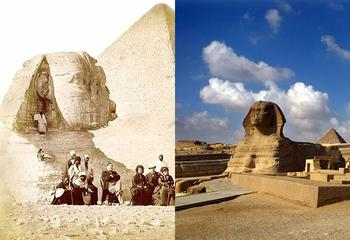Как выглядели любимые туристами места столетие назад