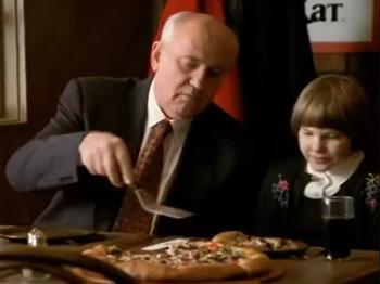 Горбачев прокомментировал свои съемки в рекламе пиццы