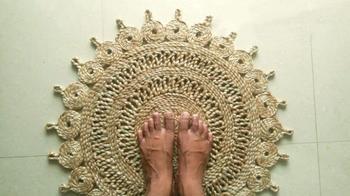 Стильный коврик из джута