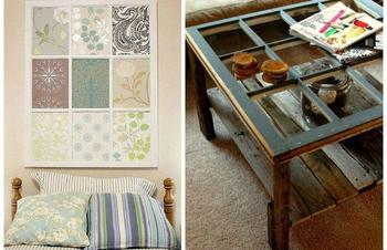 Идеи, которые помогут превратить старое окно в произведение искусства