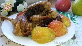 Гусь с яблоками без духовки – просто и реально!