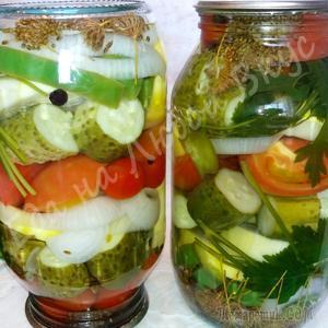 Яркое Ассорти из овощей на зиму, просто и вкусно! Подойдут любые овощи с грядки!