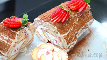 Клубничный десерт без выпечки и без яиц // Клубничное тирамису