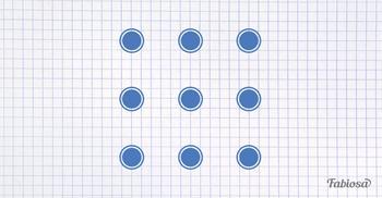 Как соединить 10 точек 4 прямыми линиями, не отрывая ручки от бумаги?