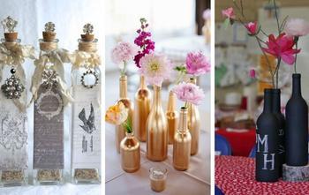 Креативные и оригинальные предметы из стеклянных бутылок