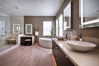 Переходная ванная – самый популярный стиль ванной комнаты