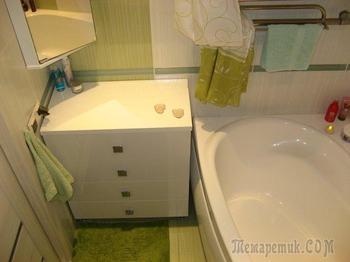 Ремонт ванной офисным работником