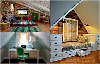 17 идей оформления жилой комнаты на чердаке