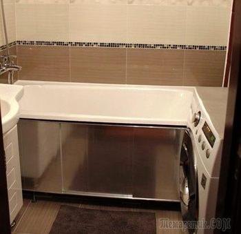 Ванная: фризы заменили мозаикой, ванну реставрировали жидким акрилом