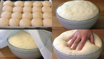 Универсальное дрожжевое тесто без яиц и молока