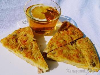 Купеческий пирог с кабачком, картошкой и грудинкой