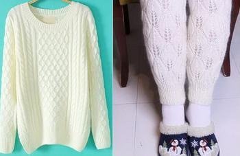 Бабушка отрезала от старого свитера все лишнее и превратила его в спасительную вещь для тех, у кого пока нет отопления
