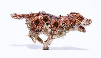 Металлические скульптуры животных от японского кузнеца