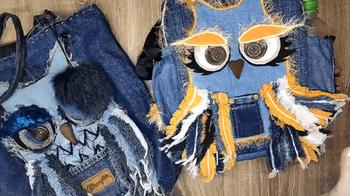 Оригинальный подход к переработке старых джинсов