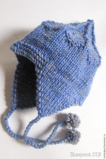 Вяжем спицами шапку-шлем «Витязь» для мальчика