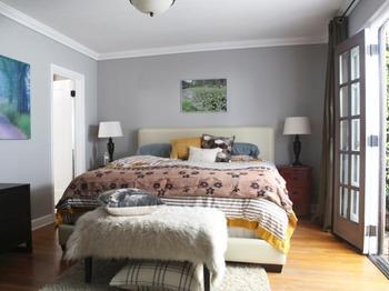 Декор стены в спальне всего за несколько часов