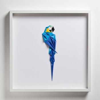 Геометрические красочные птицы из бумаги, созданные турецким художником Тайфуном Тинмазом