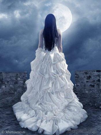 На небе фонарем луна